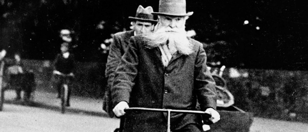 John Boyd Dunlop riding a bicycle - Dunlop heritage