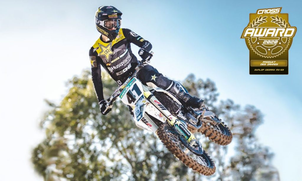 Husqvarna rider Jonass riding on Dunlop Geomax MX-53 tyres