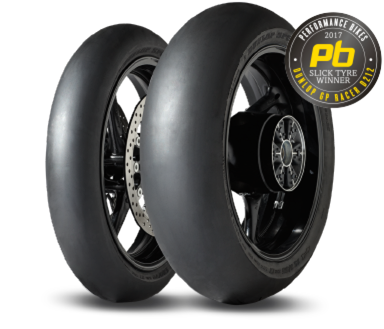 Dunlop's test winnende GP racer Slick D212 circuit band