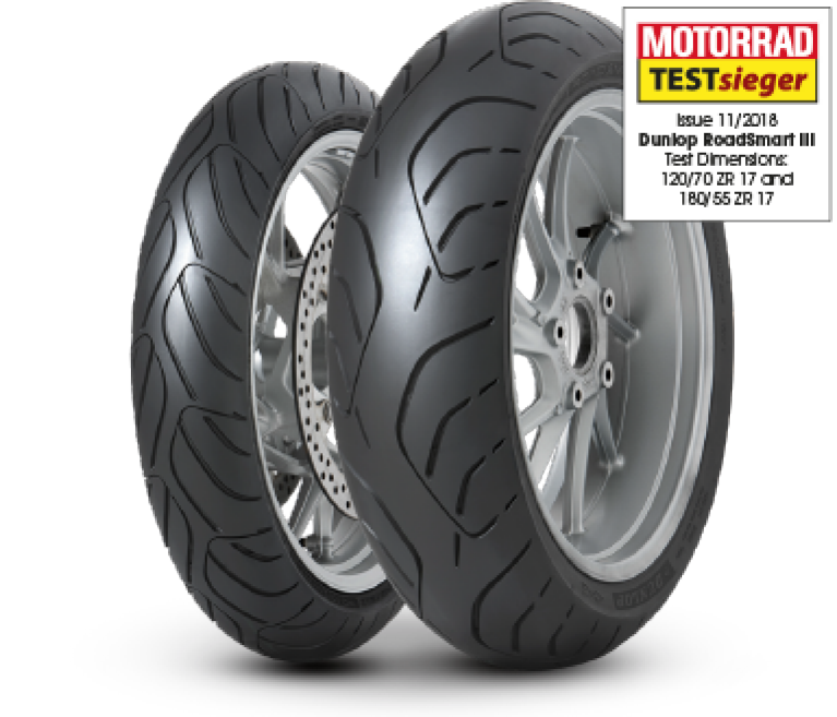 Dunlop test winning RoadSmart III sport touring tyre