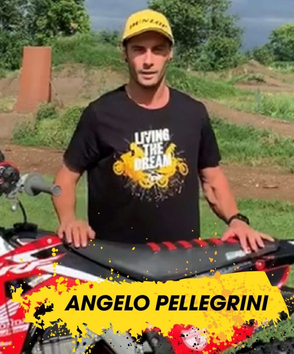 Angelo Pellegrini nosi Dunlopovo majico Living the Dream