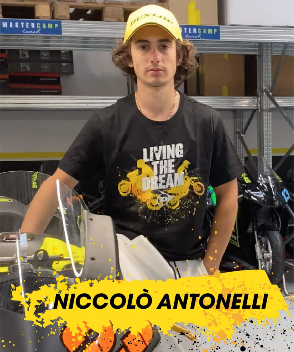 Niccolo Antonelli trägt das T-Shirt von Dunlop Living the Dream