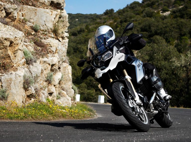 Dunlop's RoadSmart III sport-touring tyre on a BMW GS