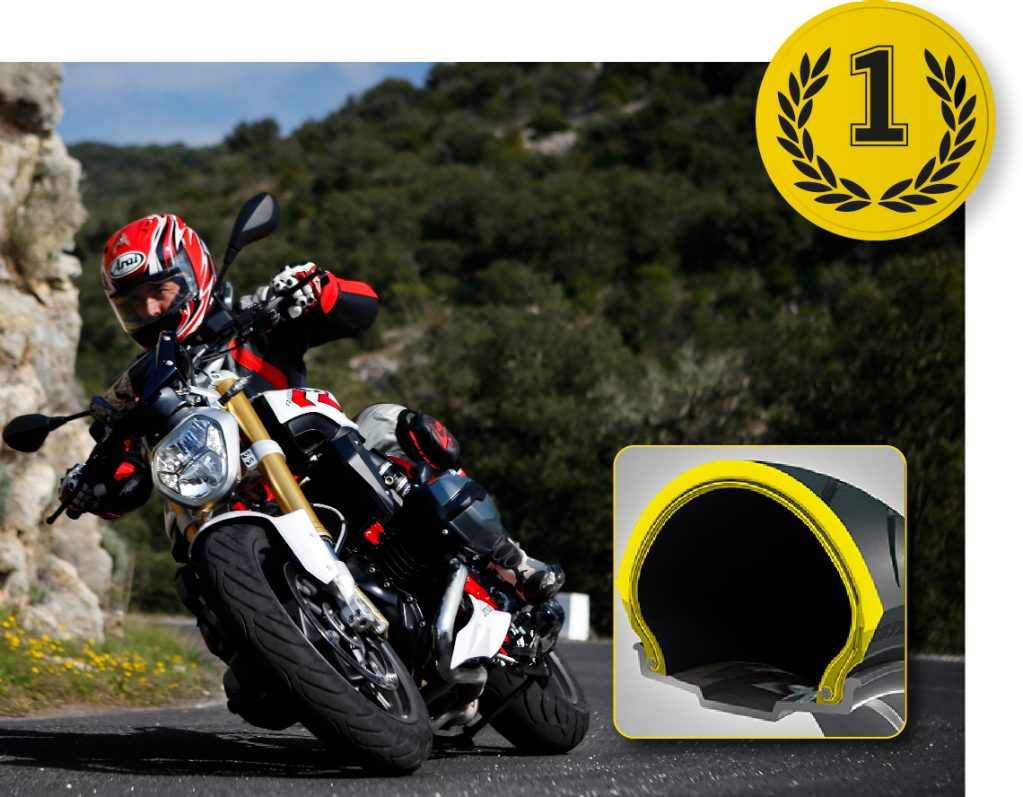 Dunlop's RoadSmart III tyre on a BMW R1200 RS, 1st for handling when new