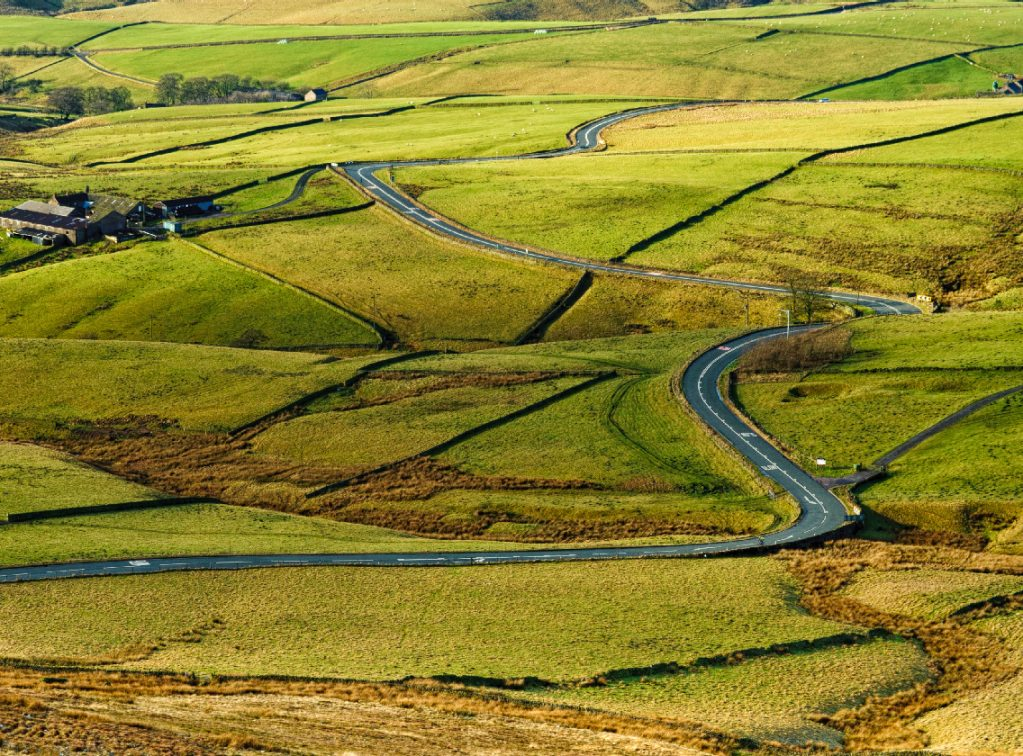 Vista della strada A537 Cat and Fiddle