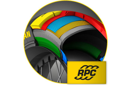Dunlop Rayon Ply Casing technology provides improved performance