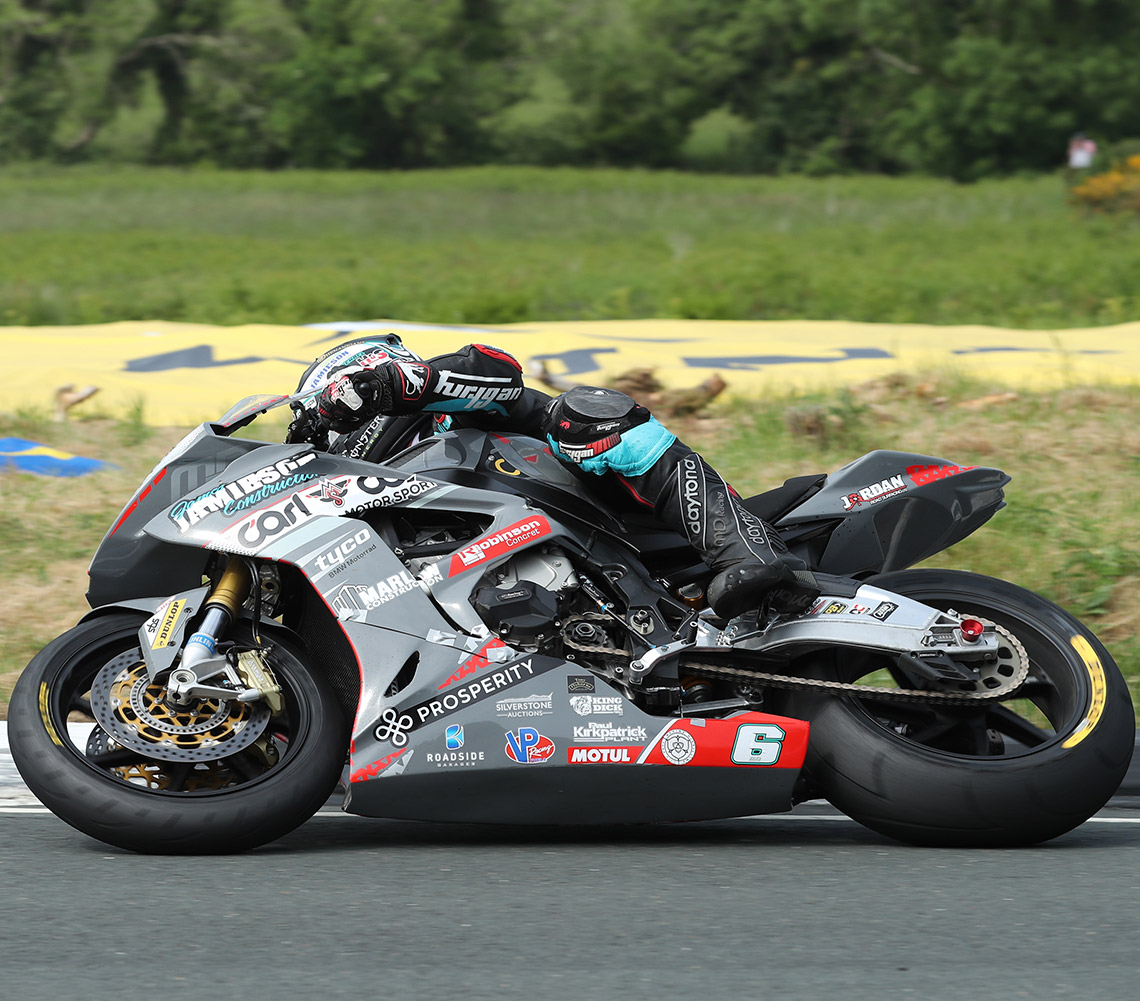 Michael Dunlop racing on Dunlop's D213 GP Pro's at the Isle of Man TT