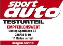 Dunlop SP Sport Maxx GT - Recommended - Sport Auto - 2010
