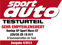 Dunlop SP Sport Maxx GT - Highly Recommended - Sport Auto - 2012
