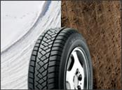 The tread compound and tire profile are designed for even wear, prolonging tire life and enhancing load-carrying abilities.