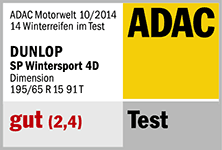 Dunlop SP Winter Sport 4D - gut - ADAC 2014