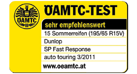 Dunlop SP Sport FastResponse - Highly recommended - ÖAMTC - 2011
