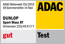 Dunlop SP Sport Maxx RT - Good - ADAC - 2013