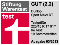 Dunlop SP Sport Maxx RT - Good - Stiftung Warentest - 2013