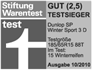 Dunlop SP Winter Sport 3D - Vencedor do teste - Stiftung Warentest - 2010