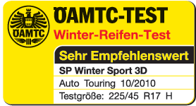 Dunlop SP WinterSport 3D - Highly recommended - ÖAMTC - 2010
