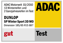 Dunlop SP Winter Sport 3D - Good - ADAC Motorwelt - 2010
