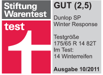 Dunlop SP Winter Response - Good - Stiftung Warentest - 2011