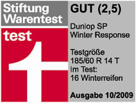 Dunlop SP Winter Response - Good - Stiftung Warentest - 2009
