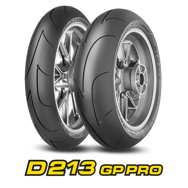Dunlop D213 GP Pro packshot and logo